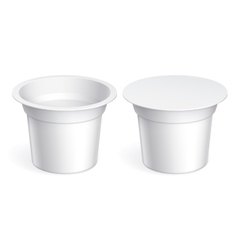 Slim White blank plastic container vector image vector image