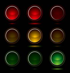 traffic light buttons vector image vector image
