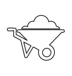 wheel barrow isolated icon vector image