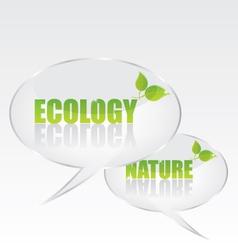Ecology bubble speech vector image