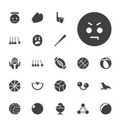 22 ball icons vector