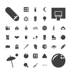 37 recreation icons vector