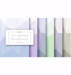 Abstract pastel pattern set backgrounds vector