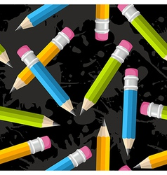 Back to school pencil grunge pattern vector