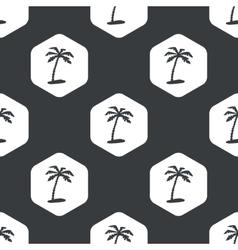 Black hexagon vacation pattern vector image