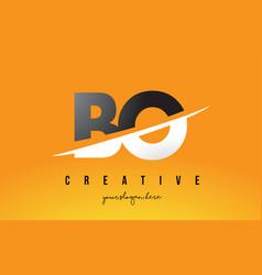Bo b o letter modern logo design with yellow vector