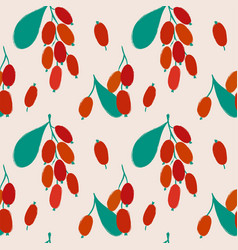 bright seamless pattern with barberry vector image