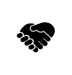 business handshake contract agreement flat icon vector image