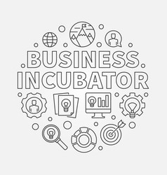 business incubator round in vector image