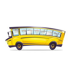 Cartoon school yellow truck bus for kids vector