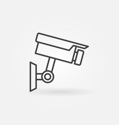 cctv camera icon - camera outline symbol vector image