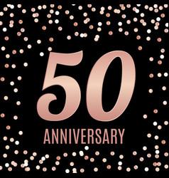 celebrating 50 anniversary emblem template design vector image