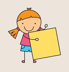 child cartoon design vector image