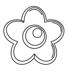 Choco flower icon outline style vector