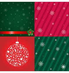 Christmas Backgrounds With Snowflakes Set vector