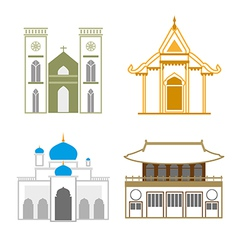 Church outline vector