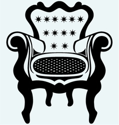Classic armchair vintage vector image