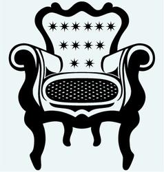 Classic armchair vintage vector