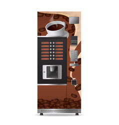 coffee vending machine realistic icon vector image
