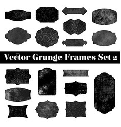 collection grunge stamp shapes vector image