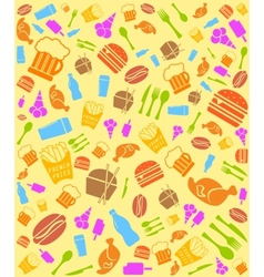 colorful fast food bakground vector image