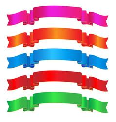 Colorful sparkling ribbon vector