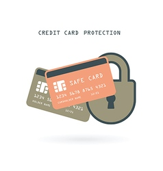 credit card protection vector image