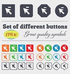 Cursor arrow minus icon sign Big set of colorful vector