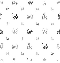 Dad icons pattern seamless white background vector