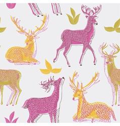 Deer artistic print vector