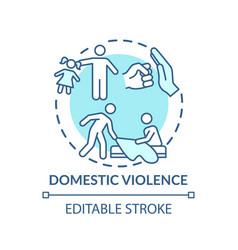 Domestic violence concept icon vector