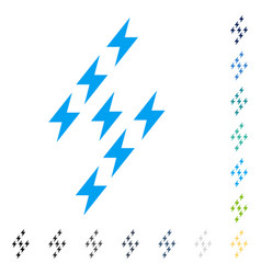 Electric energy sign icon vector