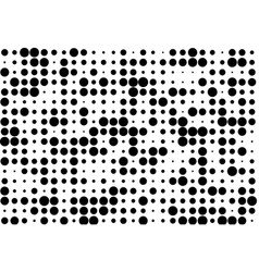 elegant pattern with black polka dots vector image