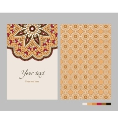 ethnic card template vector image