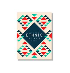 ethnic style abstrat original design ethno tribal vector image