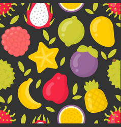 exotic fruits seamless pattern on vector image