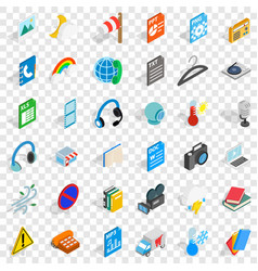 File and app icons set isometric style vector