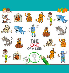 Find one picture of a kind activity game vector