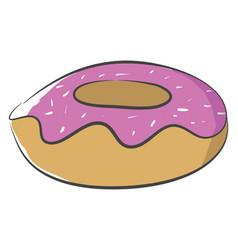 fresh doughnut or color vector image