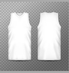 frontal and back view on white man t-shirt vector image