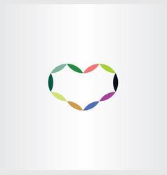 Geometric heart colorful symbol logo sign element vector