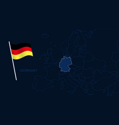 germany on europe map high quality map europe vector image