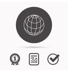 Globe icon World travel sign vector