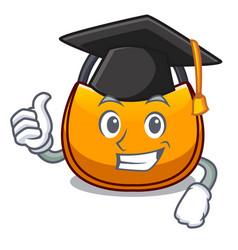 Graduation beautifully hobo bag on character funny vector