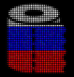 Halftone russian toilet paper roll icon vector