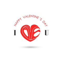 Happy Valentines day lettering background vector image