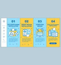 Home services for electronic devices onboarding vector