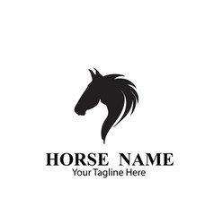 horse logo designs concept vector image