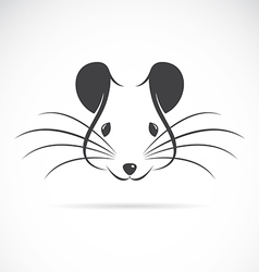 Image of an rat head vector