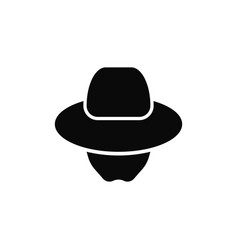 Incognito agent icon spy logo vector